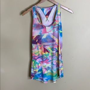 Lucy 90s style tie dye geometric print tank top